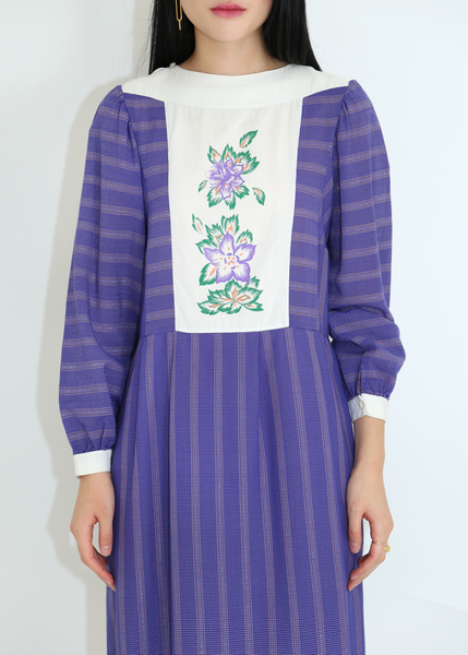 70'S PURPLE LUREX DRESS