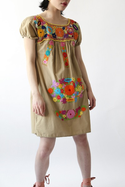 MEXICAN EMBROIDERED SUMMER DRESS