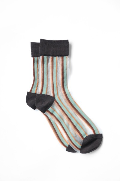 SHEER STRIPED SOCKS