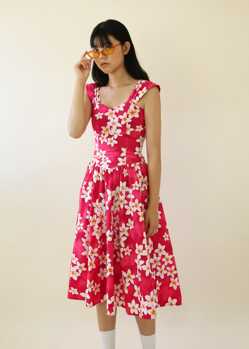 HAWAIAN BOLD FLOWER DRESS