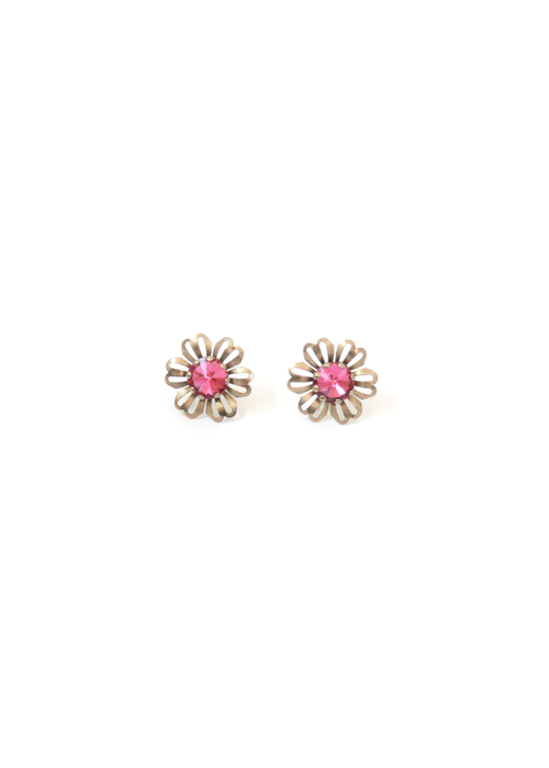 BOLD PINK DAISY EARRINGS