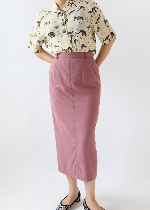 DUSTY PLUM LONG SKIRT