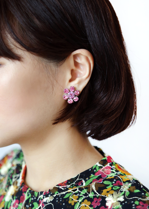 TWINKLE PINK RHINESTONE EARRINGS