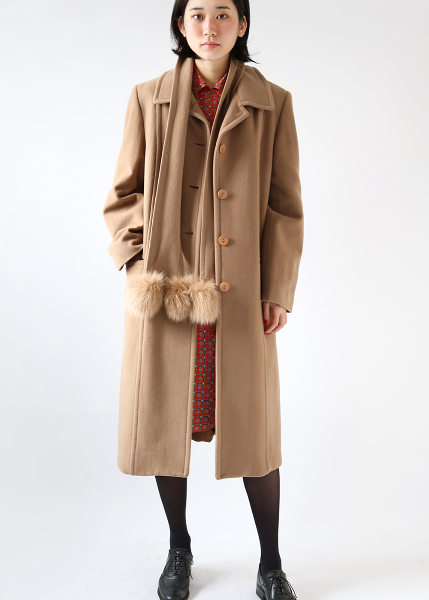 2 WAY CAMEL LONG COAT