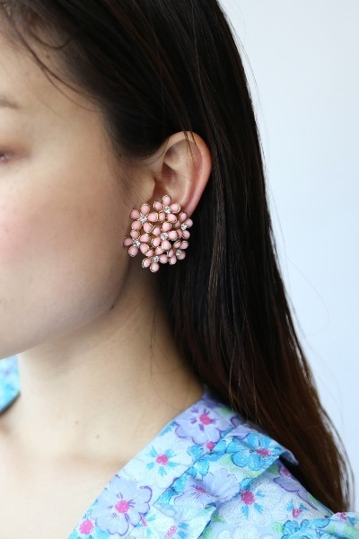 60'S PINK BLOSSOM EARRINGS