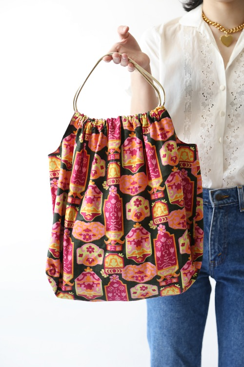 1960'S PRINTED COTTON BAG