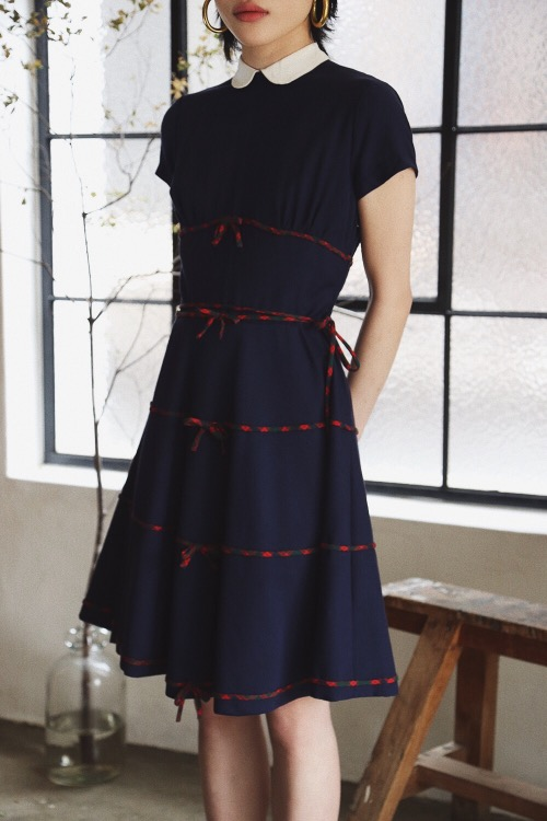 1950'S RIBBON TIE DRESS