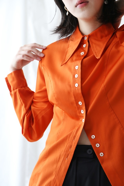 70'S STATEMENT ORANGE SHIRT