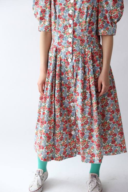 APPLE ILLUSTRATED PRINT DRESS