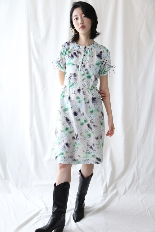 WHITE DOTS SUMMER DRESS