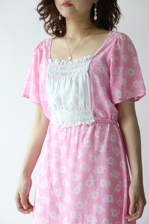 PINK SHEER HIPPIE DRESS
