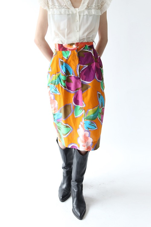HAWAIIAN FLOWER SKIRT