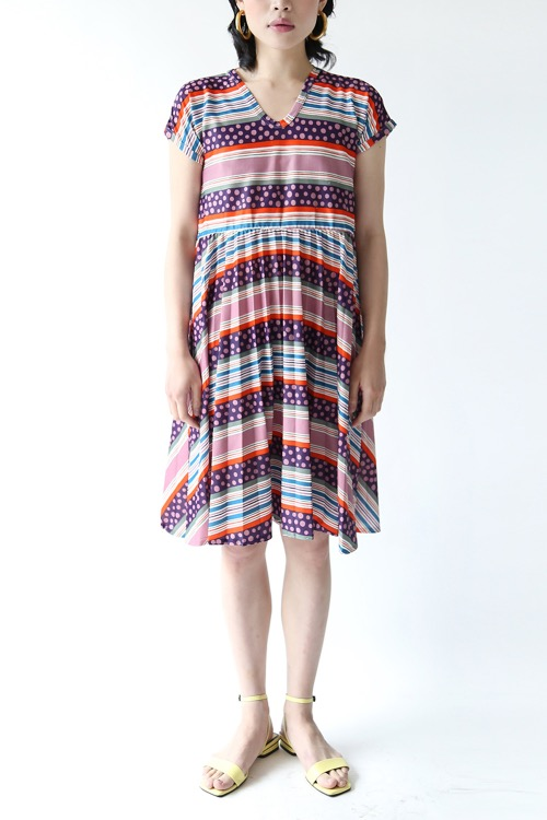 STRIPED PLEASTS DRESS