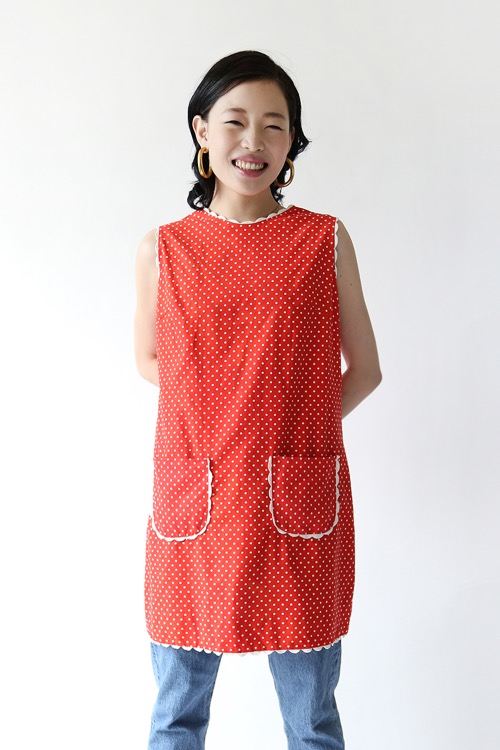 RED DOTS COTTON DRESS