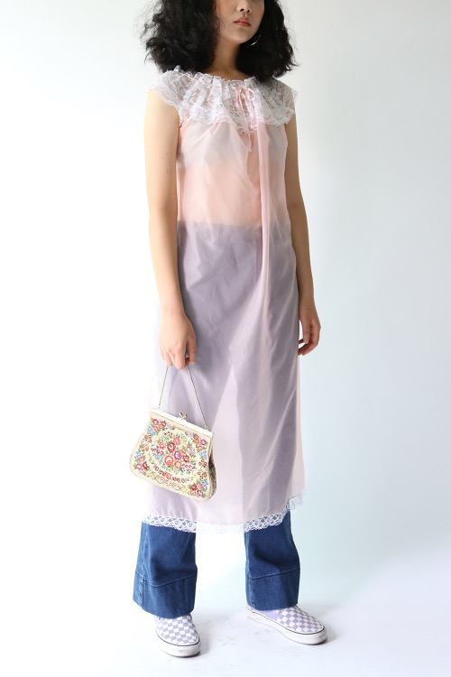 BABY PINK FRILLED DRESS