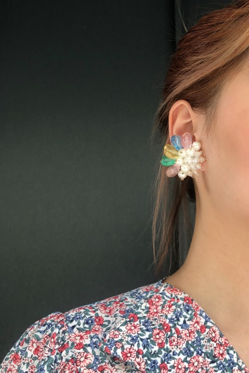 PASTEL CANDY BEADS EARRINGS