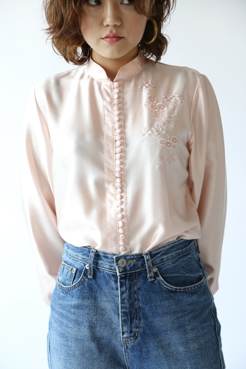 BABY PINK EMBROIDERED BLOUSE