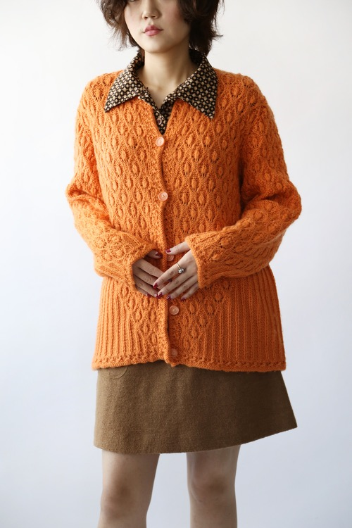 ORANGE OVERFIT CARDIGAN