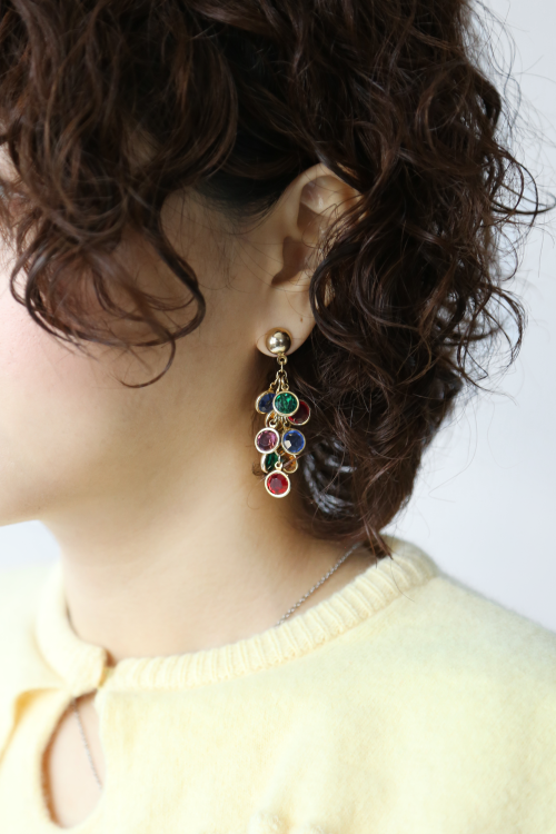 70'S CANDY FRINGE EARRINGS