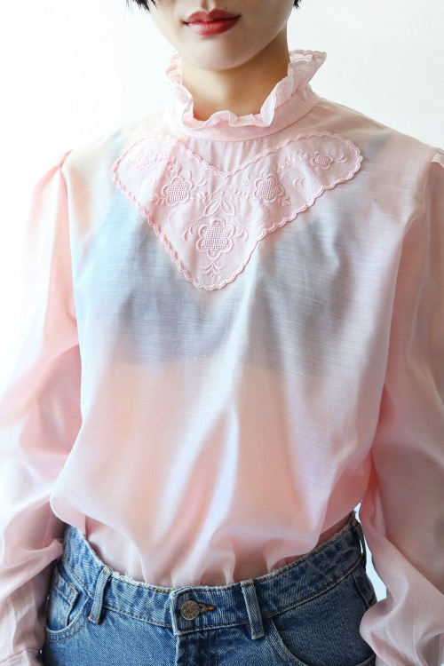 BABY PINK HEART BLOUSE
