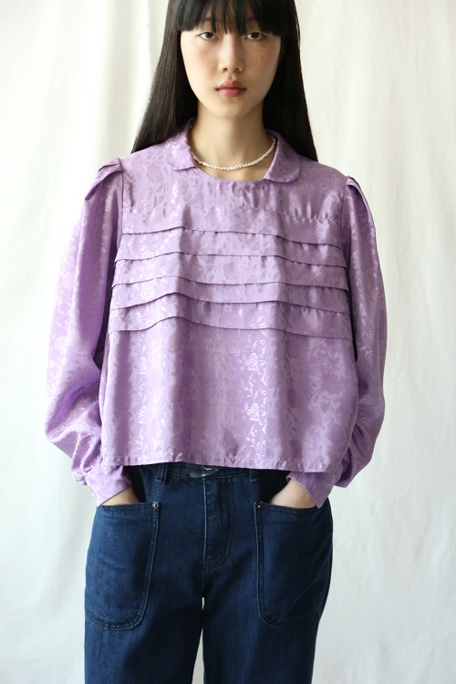 80'S LILAC ROSE BLOUSE
