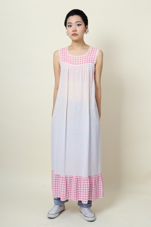 PINK COTTON LONG DRESS